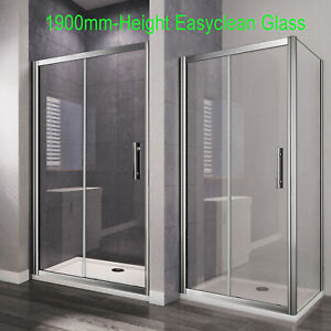 Sliding Shower Enclosure Door And Tray Cubicle Side Panel Screen Safety Clean