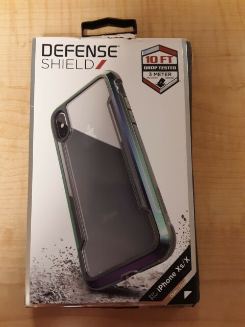 new style 326b6 675e1 X-Doria iPhone X Defense Shield Case Drop Tested Iridescent
