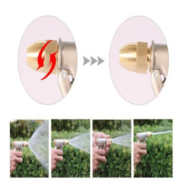 Brass Garden Car Watering Hose Spray Gun Pistol Grip Trigger Nozzle Sprinkler L