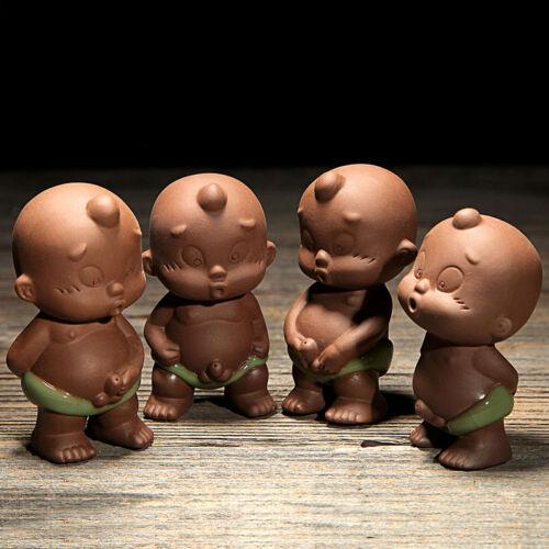 Chinois Creative Tea Pet Pee doll statue Violet Argile thé jouer frère Four Chine