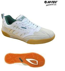 Mens-Hi-Tec-Trainers-Leather-Squash-Classic-Sports-Badminton-Shoes-Size-4-14