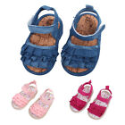 Newborn Girl Infant Toddler Fashion Soft Sole Sandals Baby Shoes Size 0-18Months
