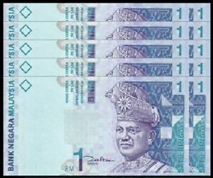 Malaysia-RM1-11th-Series-Zeti-Paper-10pcs-Running-Number-UNC-2000-1