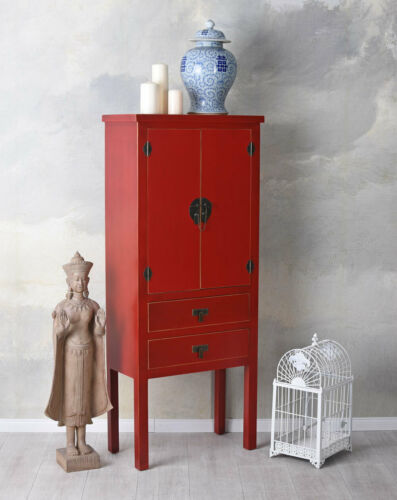Armoire asiatique rouge commode Chine planches armoire armoire de mariage Style MING
