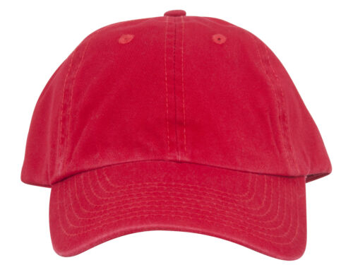 Low Profile Dyed Cotton Twill Cap Red