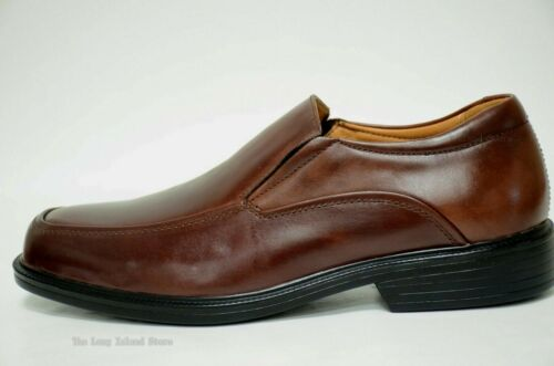 Extra wide 3E La Milano Mens Shoes Genuine Leather Brown EEE Slip on A720