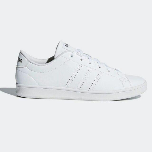 Adidas Women's Neo Advantage Clean QT White Black Casual Shoes Sneakers B44667