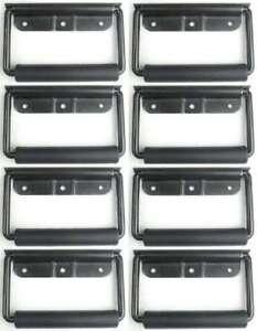 Klappgriff gefedert 102 x 81 mm silber Kistengriffe Boxengriff Tragegriffe 8 St