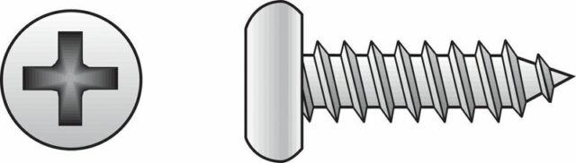 Hillman Pan Head Phillips Drive Sheet Metal Screws Steel 8 x 3//4in L 100 per box