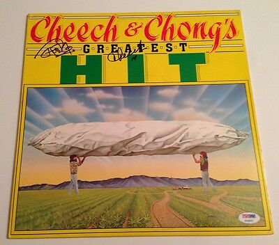 Entertainment Memorabilia Records Cheech & Chong Signed Greatest Hit Lp Album Psa/dna # X14547