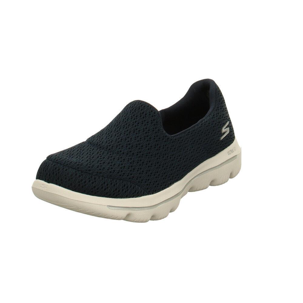 Skechers Damen Go Walk Evolution Ultra Persit Blaue Textil Slipper