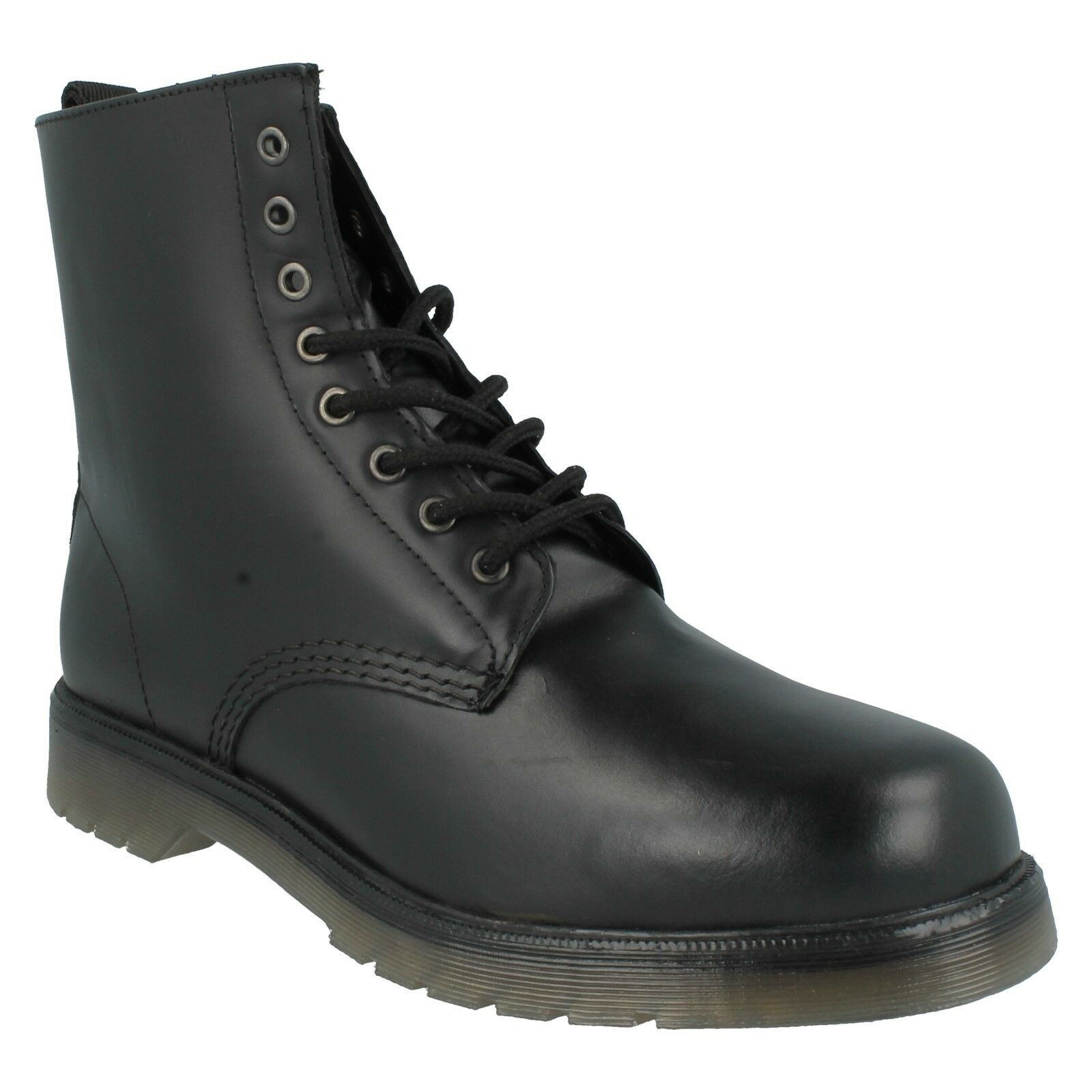 1900 MAVERICK Hombre MILITARY STYLE TOE LACE UP ANKLE ROUND TOE STYLE COMBAT LEATHER botas c38381
