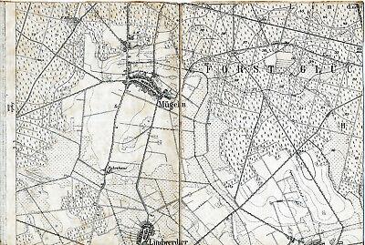 100% Wahr Mügeln Lindwerder Steinsdorf 1904 Teilkarte/ln. Tk25 Forst Glücksburg Fuhrthaus