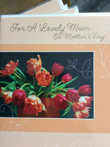 Pretty Flower Design Quality Card Lovely Words For A Lovely Mum On Mother's Day