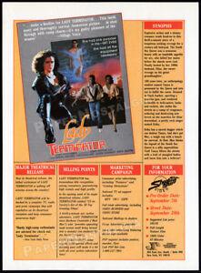 LADY TERMINATOR__Orig. 1989 Trade print AD / ADVERT__Barbara Anne Constable