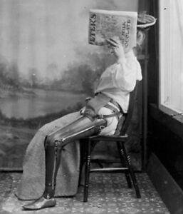 Antique-Medical-Artificial-Leg-Photo-389-Oddleys-Strange-amp-Bizarre