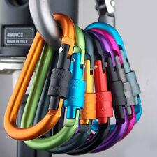 New Aluminum Carabiner D-Ring Clip Hook Climbing Keychain Hook Screwgate Locking