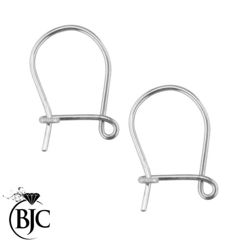 925 Solid Sterling Silver Earring Safety Wires Hooks Findings 13mm Sold In Pairs