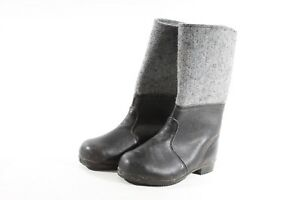 Beautiful-Old-GDR-Boots-Size-28-Sole-29cm-Felt-Boots