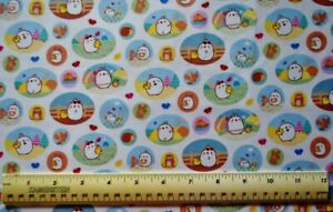Molang Flowers Green Riley Blake Cotton Fabric