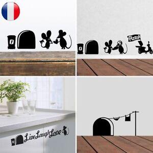 2Pcs-Sticker-Mural-Autocollants-Trou-Souris-Amovible-Decoration-Chambre-Salon-NF