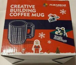 Build-On Brick Mug Blue 12 Oz Coffee Mug Cup Drinkware NEW
