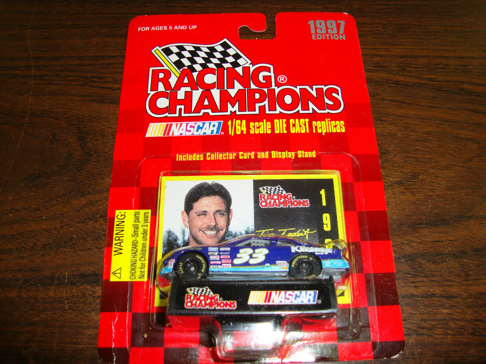 Tim Fedewa---1 64 Scale Diecast---With Card & Stand---1997