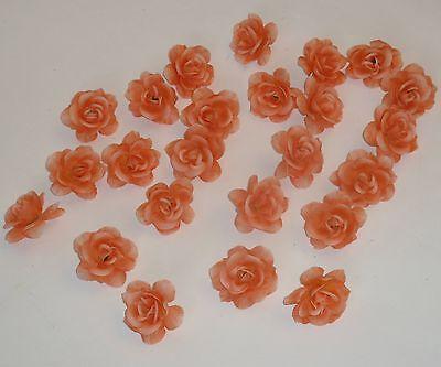 50 x Rose orange Streudeko mini Rosen// Streublüten