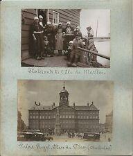 1885ca MARKEN - AMSTERDAM 2 original photo albumin Waterland Koninklijk Paleis