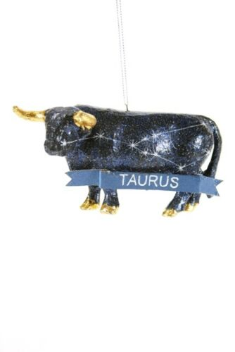 Zodiac Sign TAURUS Astrology Constellation Christmas Ornament by Cody Foster