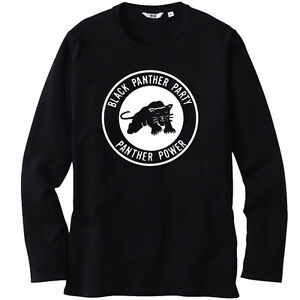 New Black Panther Party Logo *Malcolm X Long Sleeve Black T-Shirt ...