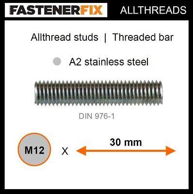 Aisi 304 A2 Barra filettata in acciaio inox DIN 976 1 m x M8 materiale V2A