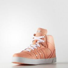 WOMEN ADIDAS NEO HOOPS VULC MID SHOES Sun Glow/Blue Zest size UK 6