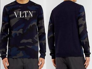 Valentino-Camouflage-Logo-Cashmere-Sweater-Pullover-Sweater-Jumper