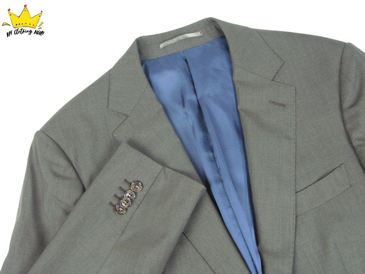 SUITSUPPLY Men Single Breast Wide Notch Blau Lining Sport Wool Coat Blazer Sz 38