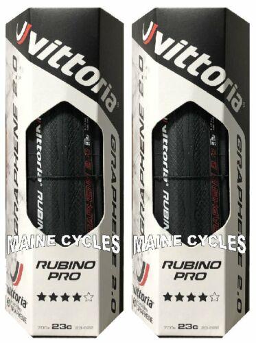 Vittoria Rubino Pro G 2.0 clincher Graphene 700 x 23 all black folding 2 tires