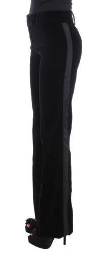 Rayé Noir Velours Bottillon Pantalon Coupe Viscose Ermanno Scervino Neuf RxI1Z1