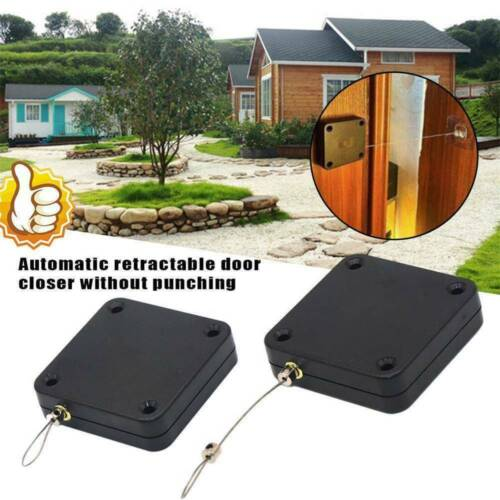 US Multifunctional Punch-free Automatic Sensor Door Closer Automatically Tools ~