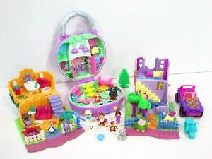 Polly-Pocket-Animal-Wonderland-House-Playset-Lot-Bluebird-Vintage