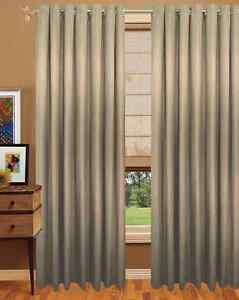 1 double wide faux silk 90 w x 96 h with lining ebay for Double width curtain lining
