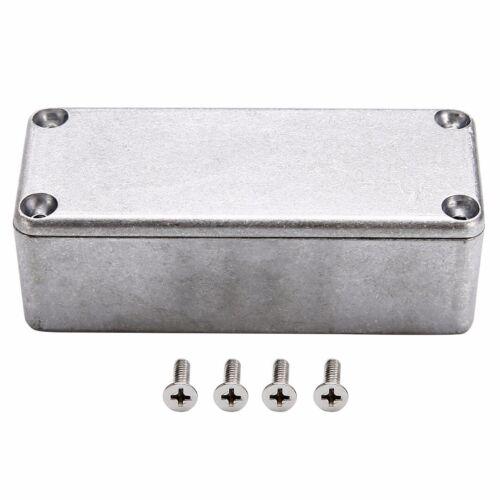 1pcs Silver Aluminium Electronic Hammond Diecast Stompbox Project Box Enclosure