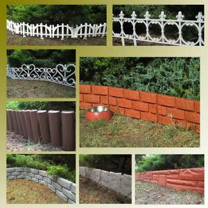 Palisade Rasenkante Beetumrandung Beeteinfassung Garten 4 Farben 2 Module 30cm