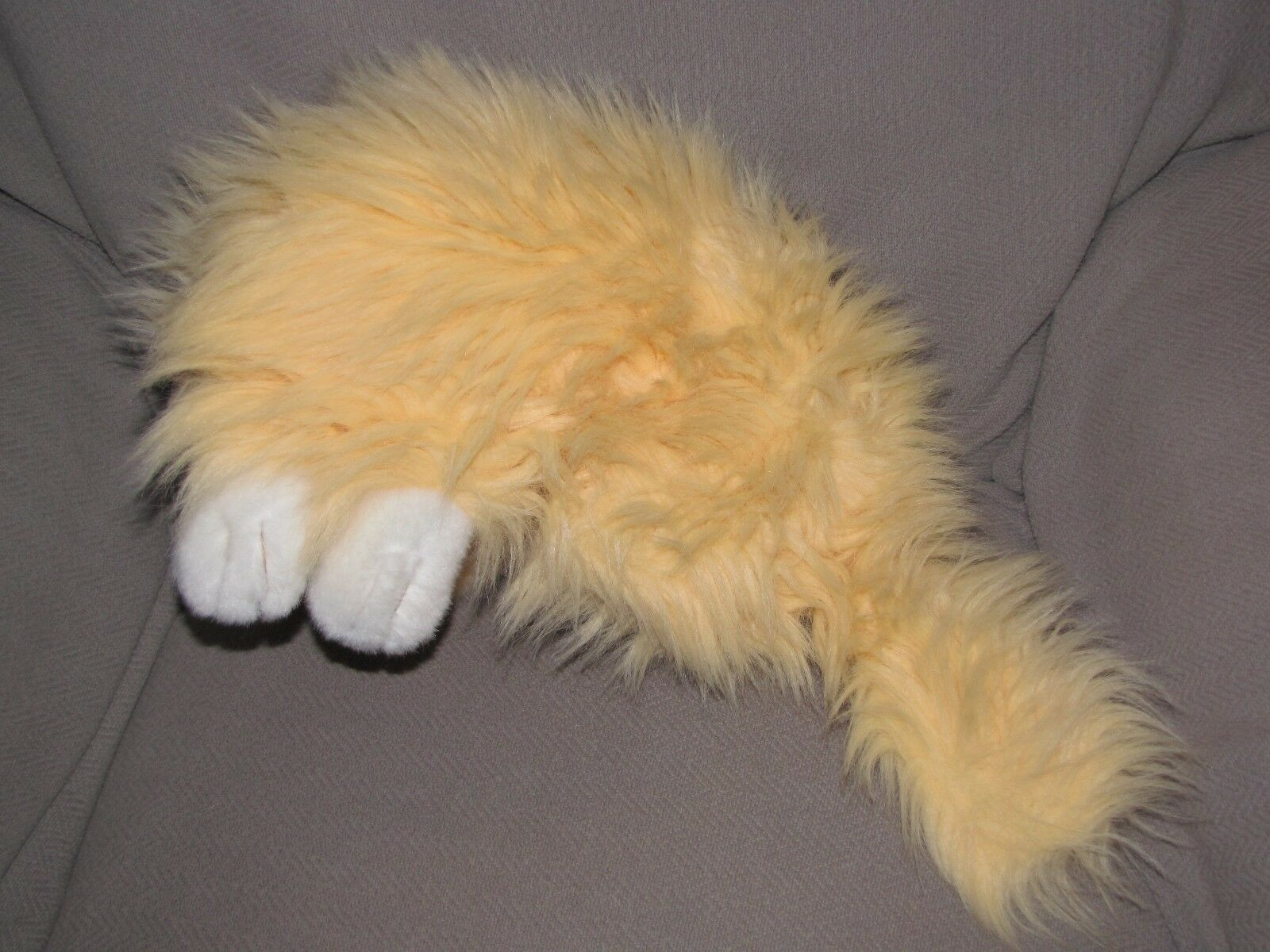 WALMART WAL MART STUFFED STUFFED STUFFED PLUSH KITTY CAT KITTEN BIG FLUFFY PERSIAN Orange PEACH bab720