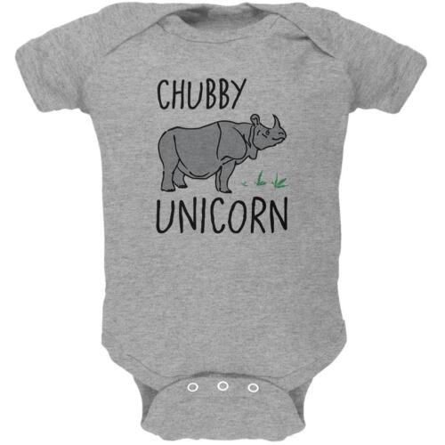 Rhino Chubby Unicorn Doodle Soft Baby One Piece