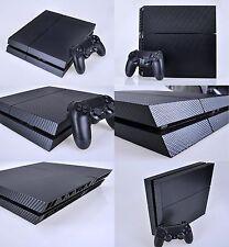Black Carbon Fiber Skin Sticker for Sony PS4 PlayStation 4 & 2 controller skins