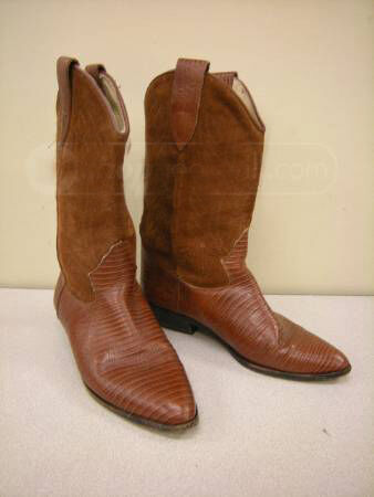 Beautiful Marronee donna VintageBrass Plum donna Rust Marronee Cowboy stivali sz 8