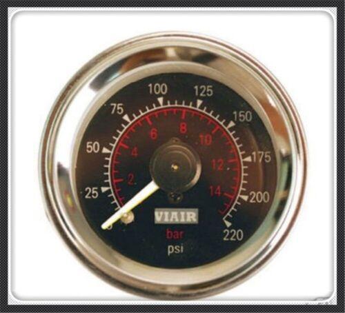 Double pointer air gauge DUAL needles pressure bag ride suspension pneumatic