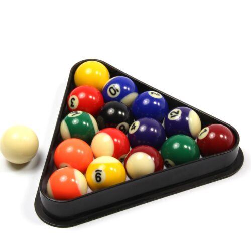 Economy Spots & Stripes Small Pool Balls & Triangle - 1 5/8Inch