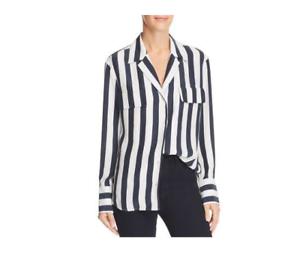 Frame Striped Silk Blouse Größe XS