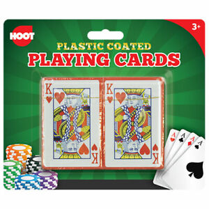 2 Pack Traditional Plastic Coated Playing Cards Poker Blackjack